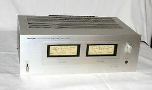 Hitachi HMA-6500 * Kult Stereo End-Verstärker / Power Amplifier * Silber * 8871
