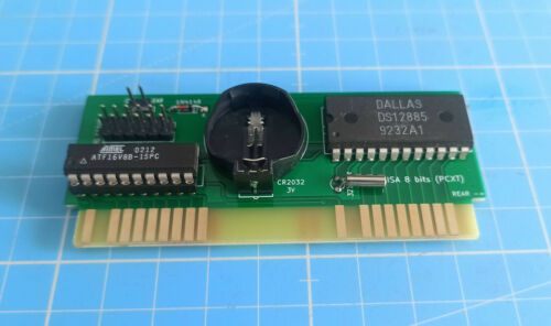 RTC Real Time Clock for 8088 PC/XT and compatibles 8-bit ISA card (low profile)
