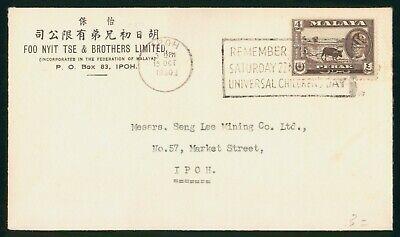 Mayfairstamps Malaya 1960 Children's Day Slogan Cancel Ipoh cover wwo1549