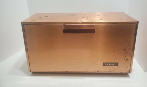 Vintage Lincoln Beautyware Bread Box Copper
