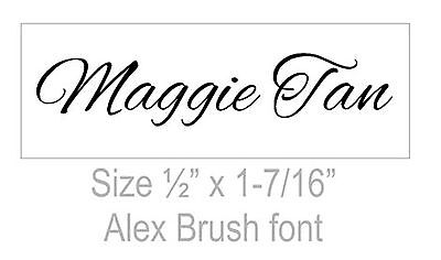 Custom 1 Line Name Stamp Unmounted For Self Inking Rubber Stamps No Stamper