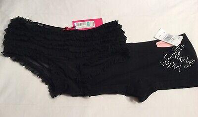2 Black Panties Xhilaration Ruffled S & Basic Universal Boy Shorts M](Black Ruffle Boy Shorts)
