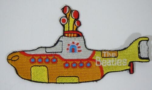 BEATLES- Yellow Submarine - Embroidered Iron-On Patch - 5""