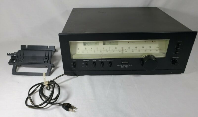 Sansui TU-717 AM/FM Stereo Tuner Rack Mountable Excellent Condition