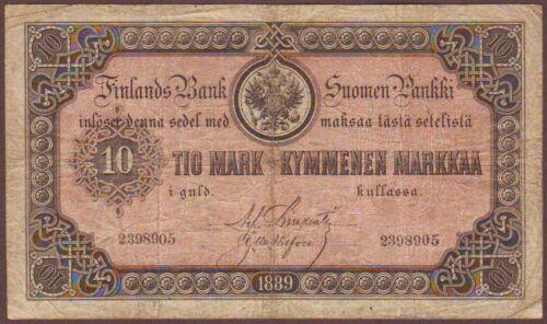 FINLAND - Russian Administration  10 Markkaa  1889