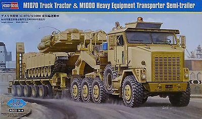 HOBBYBOSS® 85502 M1070 Oshkosh Truck w/M1000 Haevy Semi-Trailer in 1:35