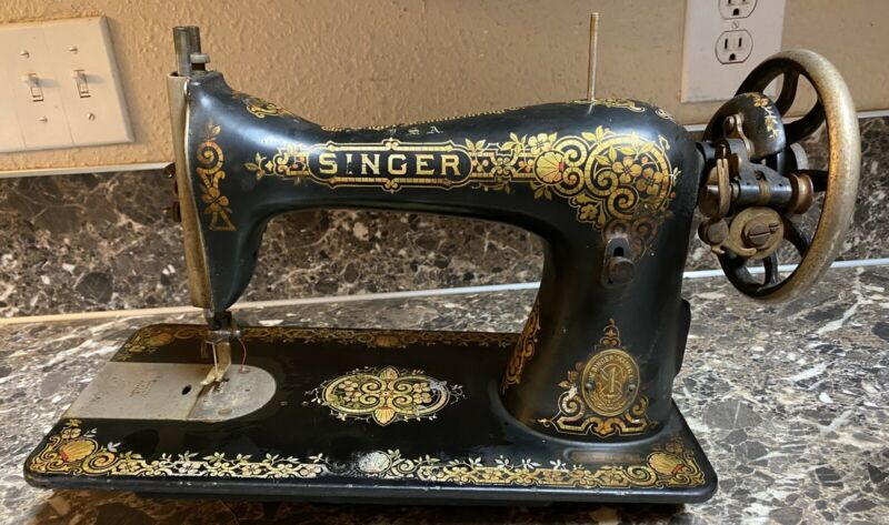 Singer Model 15 Tiffany Gingerbread Treadle Sewing Machine 1914 Antique Used