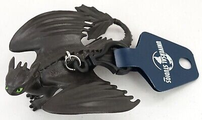Universal Studios How To Train Your Dragon 3 Toothless Night Fury Keychain Clip