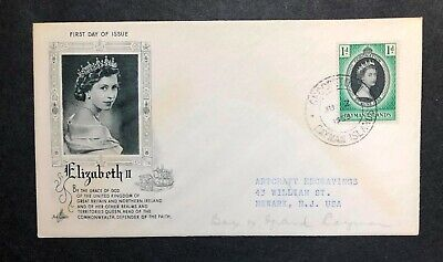 Cayman Islands 1953 Coronation FDC First Day cover