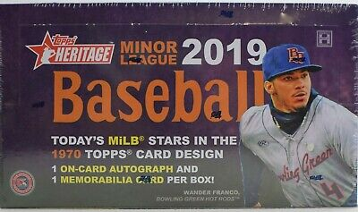 2019 Topps Heritage Minor League Baseball Factory Sealed Hobby Box