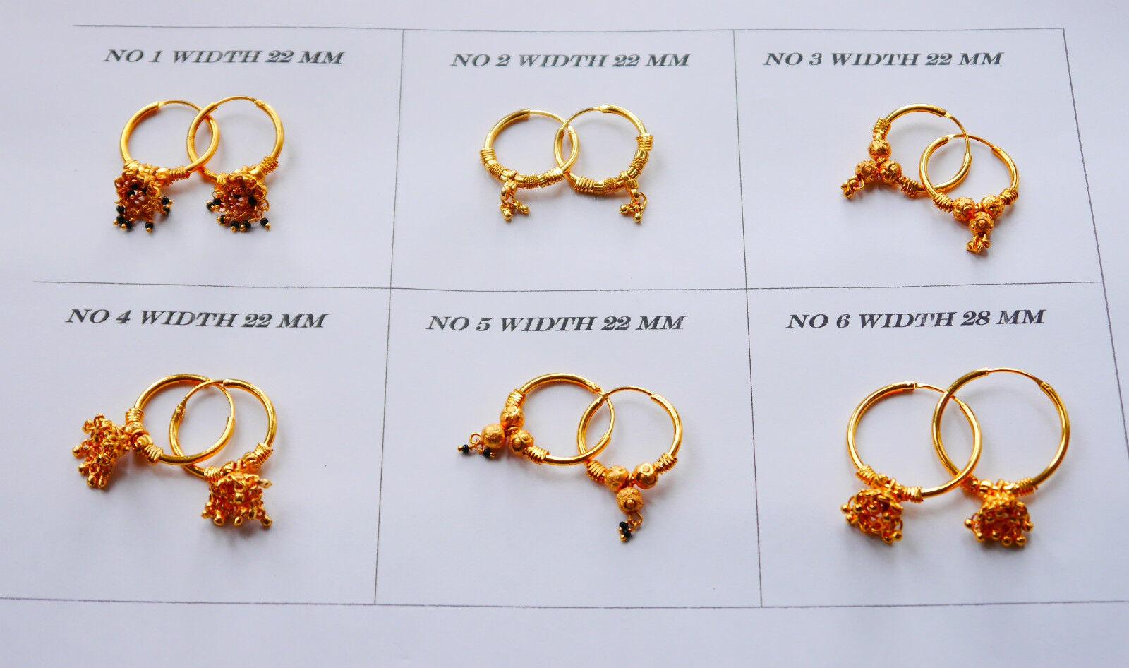 18k gold earrings round cute gold hoop earrings 22k gold plated u47