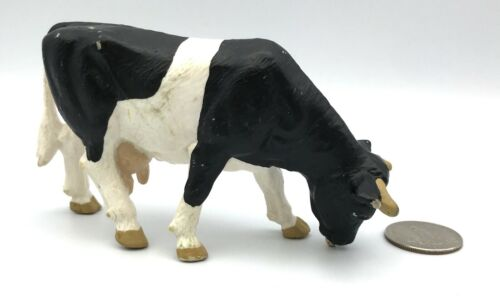 Schleich HOLSTEIN GRAZING COW 13207 Figure Black & White 1988 Dairy Farm