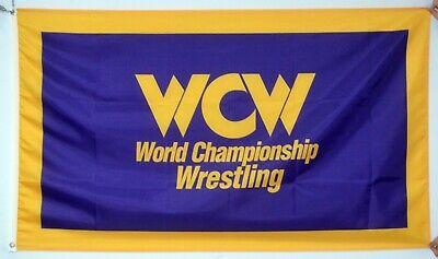 WCW World Championship Wrestling Flag 3x5 Purple WWF WWE Banner  US Shipper - Wwe Banner