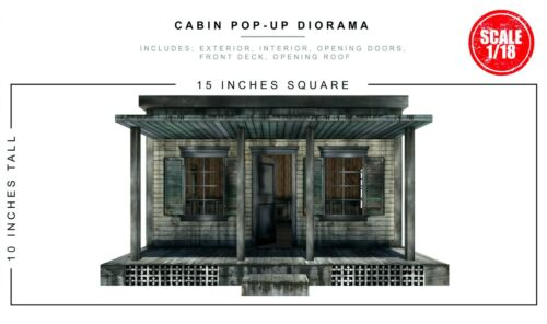 Extreme-Sets Cabin Pop-Up Diorama 1/18 Scale for 3.75in-4in Action Figures