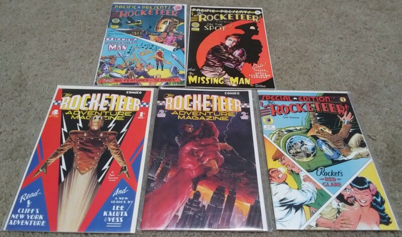Pacific Presents 1 2 & Rocketeer Adventure Magazine + Special Ed! 5 Issue Lot!