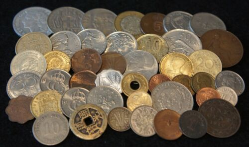 Mixed lot Foreign Coins Including SILVER & 1800
