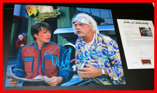 🔥 Michael J Fox Christopher Lloyd Signed Back To The Future 2 16X20 Poster PSA