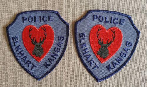 USA - 2 x Elkhart Police Patches - Kansas