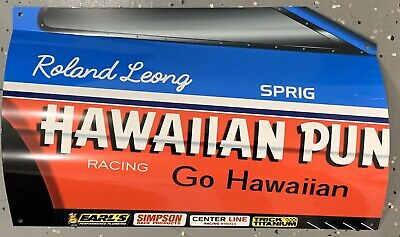 WOW!!!Curved Hawaiian Punch RACE CAR DRAG RACING Door Style Sign DRAGSTER Style Race Car
