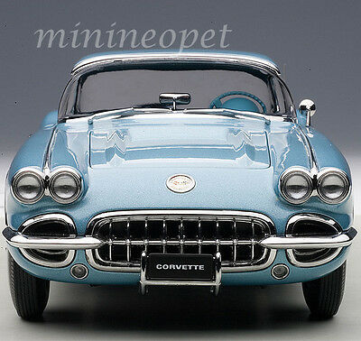 AUTOart 71146 1958 CHEVROLET CORVETTE 1/18 DIECAST MODEL CAR SILVER BLUE