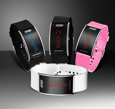 Fashion Silicone LED Sport Men Womens Watch  Bracelet Touch Digital Wrist Watch