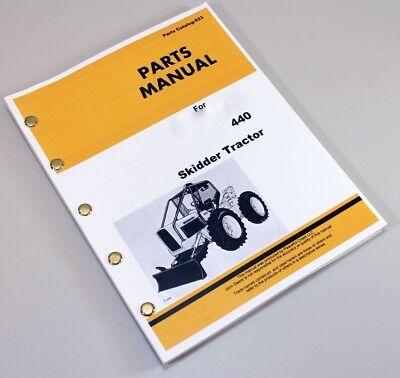 Parts Manual For John Deere 440 Skidder Tractor Industrialconstruction Catalog