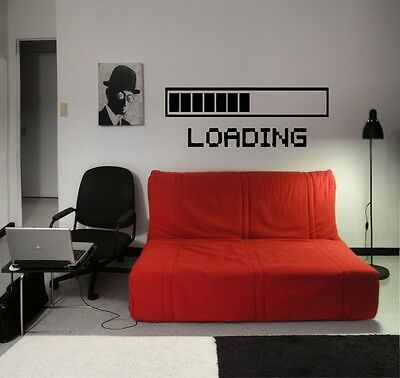 LOADING GAMING Vinyl Wall Decal Art Room Decor Sticker Word Lettering Quote 23""