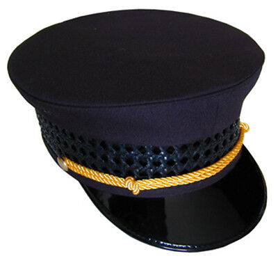 """Black Railroad Hat """"Conductor Passenger"""" all sizes available"""