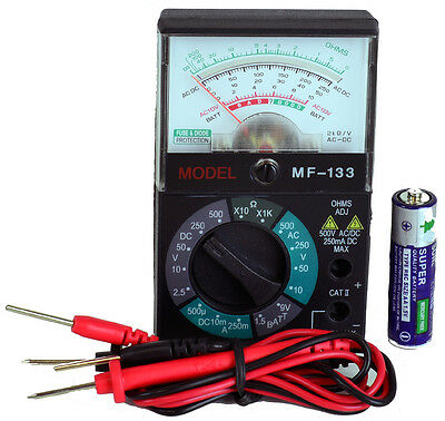Sinometer Mf133 Pocket-size 5-function 16-range Analog Multimeter