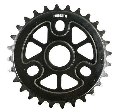 """Redline Monster 28T 1/8"""" BMX Bike Chainring 28T 6061 Alloy Black 19 22 24mm NEW"""