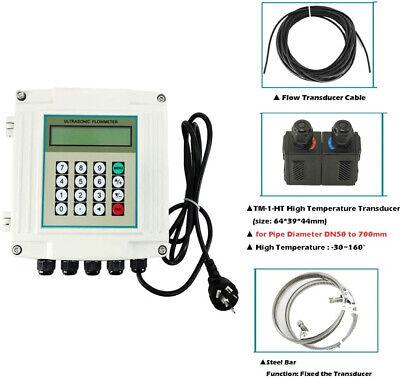 Fixed Ultrasonic Flow Meter Liquid Flowmeter Tuf-2000sw High Temp Dn50-700mm