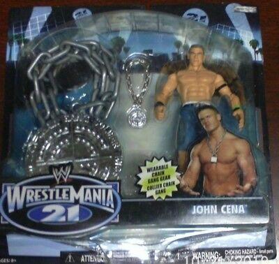 WWE Wrestlemania 21 John Cena With Wearable Chain Gang Medallion Signature Gear