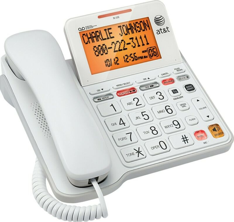 AT&T - CL4940 Corded Phone with Digital Answering System - White