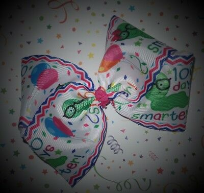100th Day of School Big Boutique Hair Bow~Celebrate~Smarter~Super Cute! (100th Day)