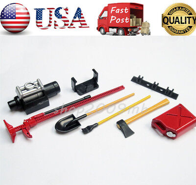 1:10 Scale RC Rock Crawler Accessory Decor Tools Set For Wraith D90 D110 SCX10