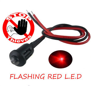 Car Bike Caravan Boat Alarm Dummy 12V Bright Flashing Red  LED 12 volts NEW