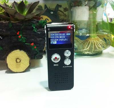 8GB Digital Audio Voice Recorder Rechargeable Dictaphone Telephone MP3 Player US