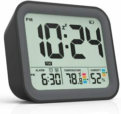 Battery Operated Digital Alarm Clock Dual Smart Workdays/Weekends