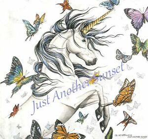Nene-Thomas-Print-5x7-Lithograph-Faery-Ring-unicorn-butterfly-butterflies-fairy