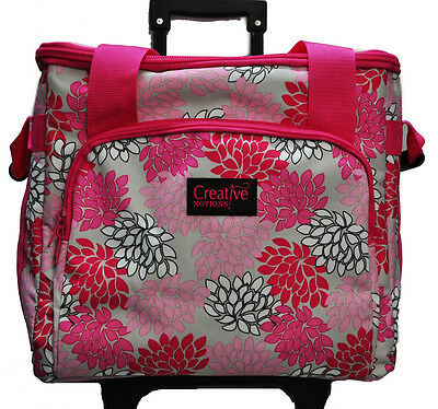 XL Serger Trolley Pink Gray Floral