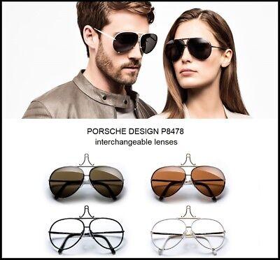 Original Porsche Design Lenses Set Only - For Model P8478 - 100% Authentic