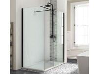 Crosswater MYLIFE WR8 Black Shower Panel