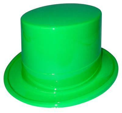 12 Plastic Green Top Hats For St Patrick's Day Parties & Craft Projects