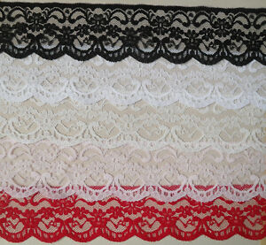 QUALITY-PRETTY-LACE-2-5-wd-WHITE-BLACK-IVORY-PINK-RED-CHOICE-5mts