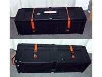 """Hardcase hard case hardware wheeled box drum case roland badge 40"""" NICE"""