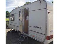 Two berth Bailey Pageant Magenta Caravan