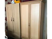 2x wardrobes - free to collect or £40 delivery on 27th Oct
