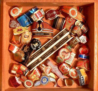 Cigar Band LOT 50+ Random Collection Vintage Bands GREAT Graphics & Colors SET 5