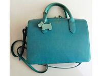 Radley Leather Tourquoise Handbag with grab handles and adjustable shoulder strap