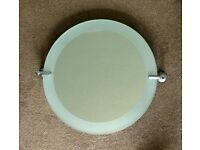 "Very Good Quality Bathroom Tilting Round Bathroom Mirror with fixingsDiameter 18""/46cmDepth 3.5""/9cm"